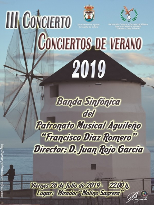 <span style='color:#780948'>ARCHIVED</span> - Friday 26th July; Free band concert in spectacular Águilas viewing point