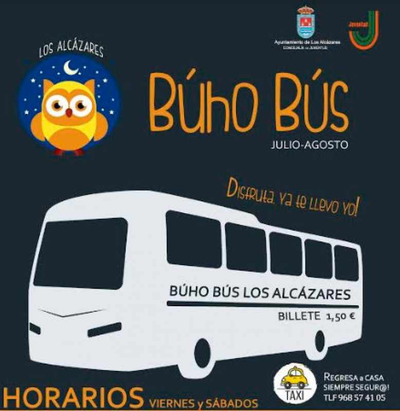 Summer night bus service in Los Alcázares