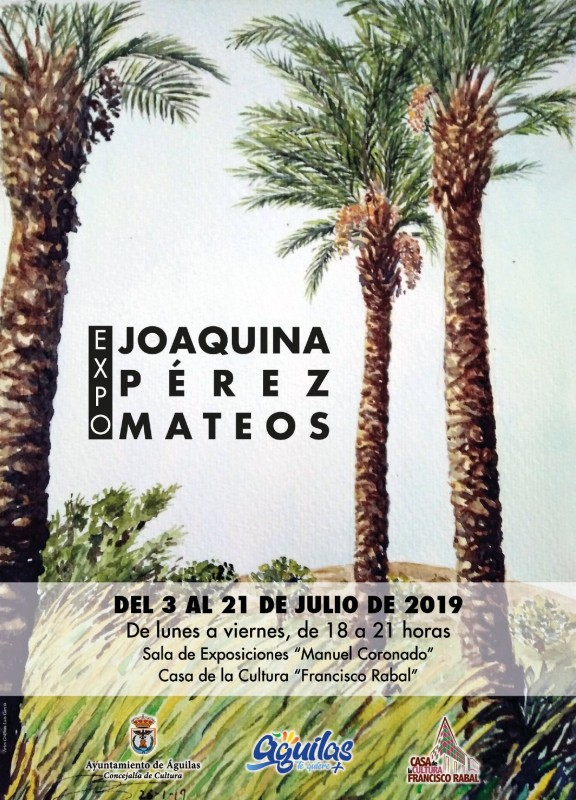 3rd to 21st July in Águilas: Joaquina Pérez Mateos