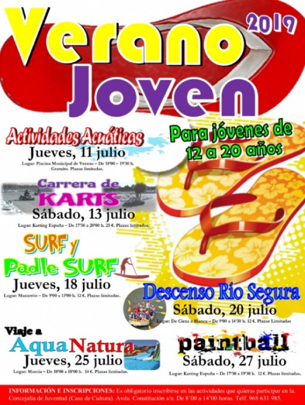 <span style='color:#780948'>ARCHIVED</span> - Activities for teenagers in Alhama de Murcia July 2019