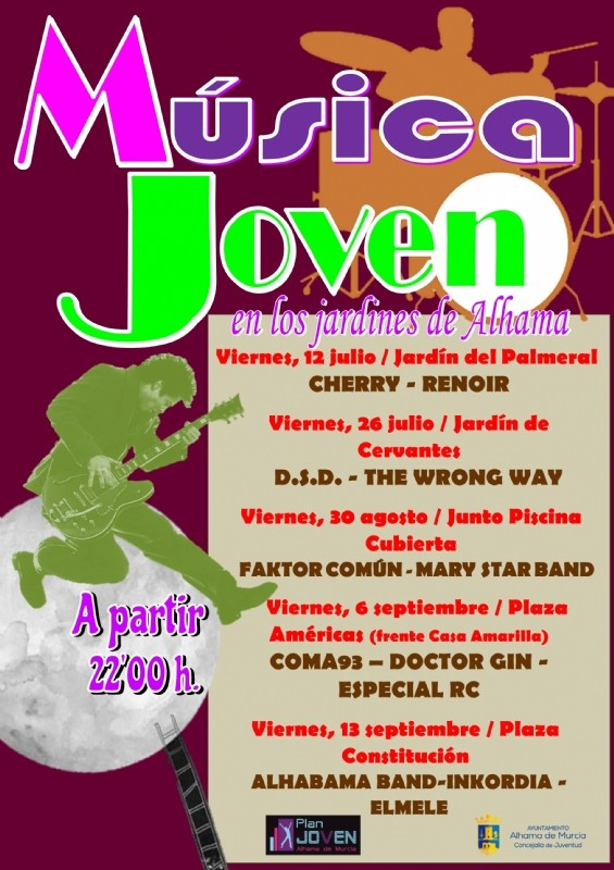 <span style='color:#780948'>ARCHIVED</span> - Friday 13th September Last of the free youth concerts cycle in Alhama de Murcia