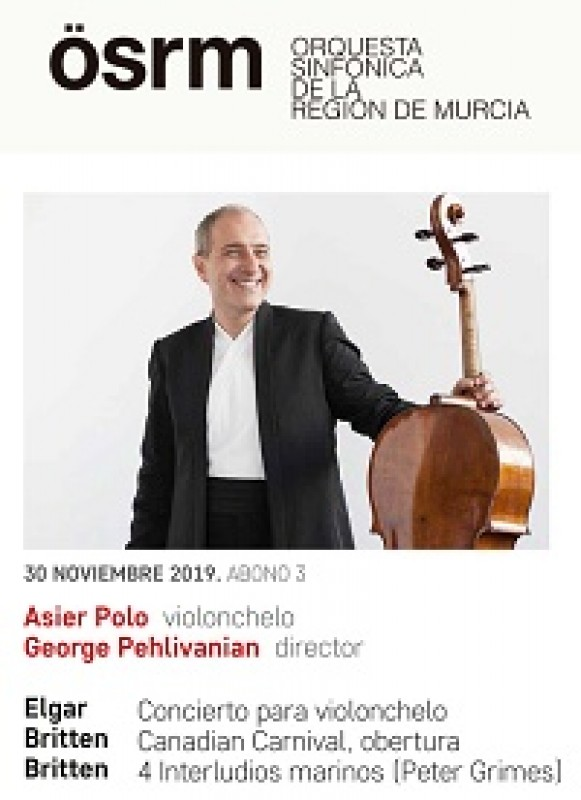 <span style='color:#780948'>ARCHIVED</span> - 30th November, cellist Asier Polo with the Murcia Symphony Orchestra at the Auditorio Víctor Villegas in Murcia