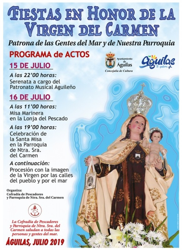 <span style='color:#780948'>ARCHIVED</span> - 15th and 16th July Virgen del Carmen in Águilas