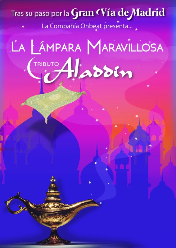 <span style='color:#780948'>ARCHIVED</span> - Saturday 27th July Musical spectacular in Águilas; Aladdin