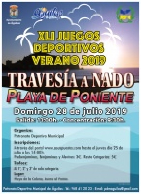 <span style='color:#780948'>ARCHIVED</span> - Sunday 28th July Águilas sea swimming race; Travesia a Nado Playa de Poniente