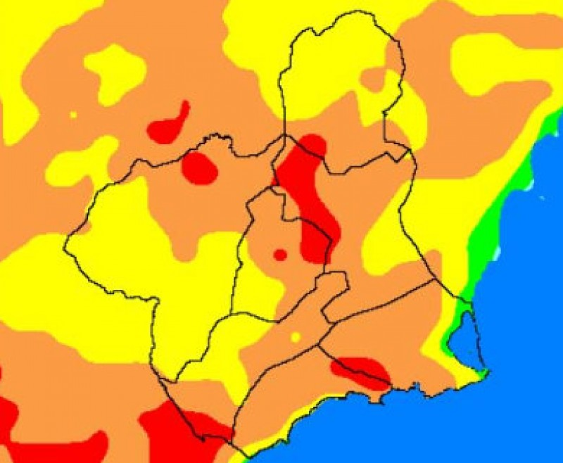<span style='color:#780948'>ARCHIVED</span> - Extreme risk of wildfires in parts of Murcia as temperatures rise to 39 degrees