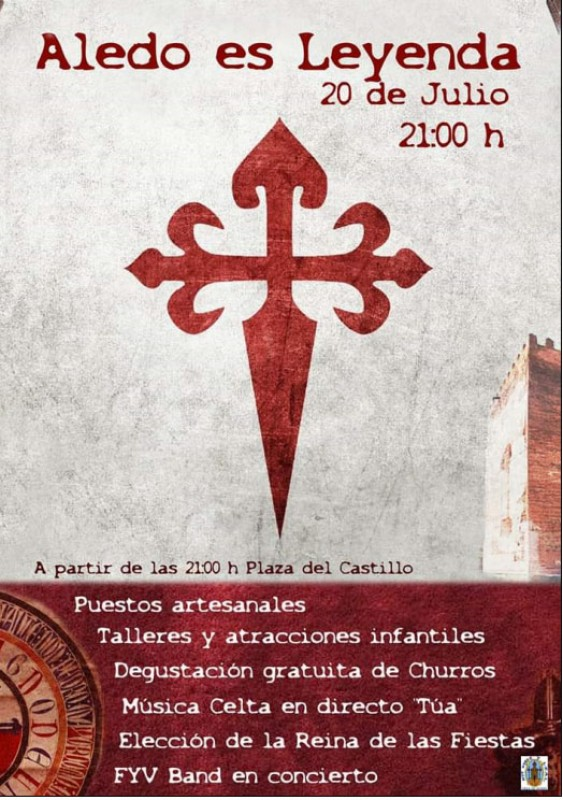 <span style='color:#780948'>ARCHIVED</span> - Saturday 20th July; Aledo is legend; mediaeval market, music and fiesta fun in Aledo, Sierra Espuña