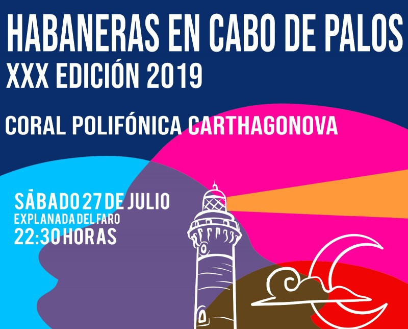 Saturday 27th July Free concert in Cabo de Palos: Habaneras by the lighthouse