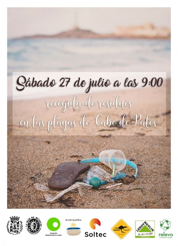 Saturday 27th July Voluntary beach clean-up in Cabo de Palos