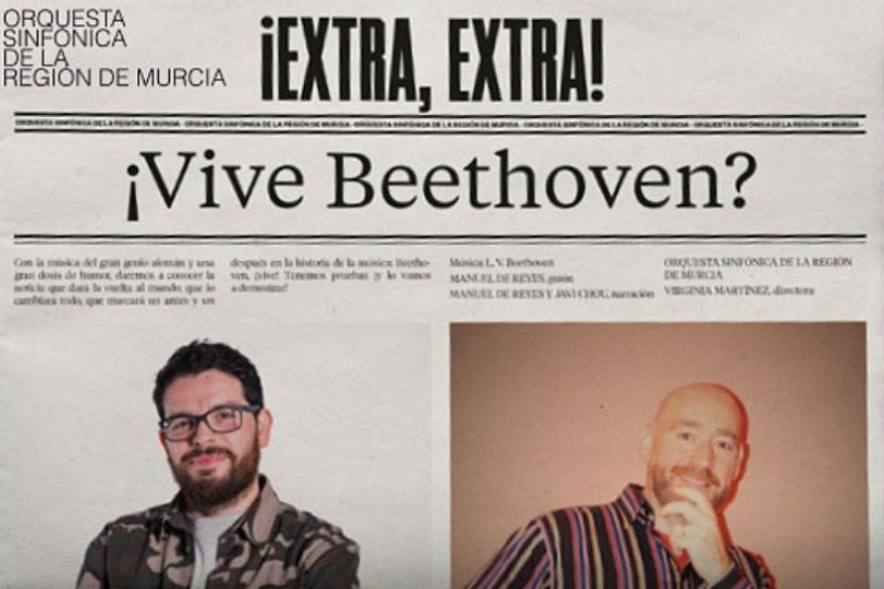 23rd February 2020 ¿Vive Beethoven? in the family concert cycle at the Auditorio Víctor Villegas in Murcia