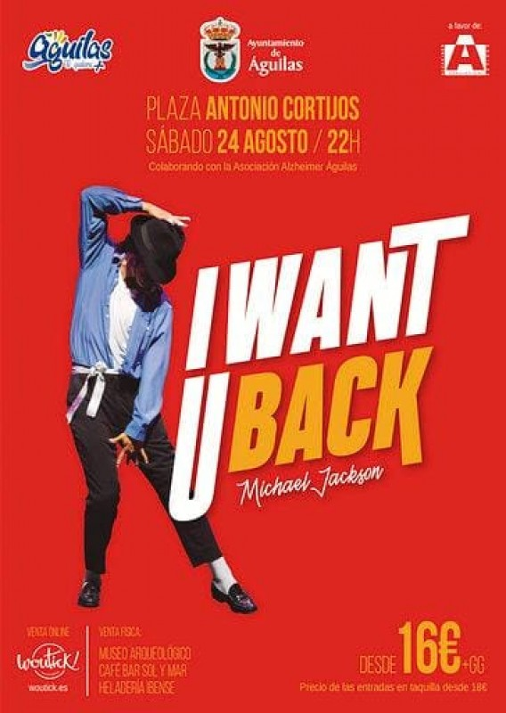 Saturday 24th August Michael Jackson tribute in Águilas