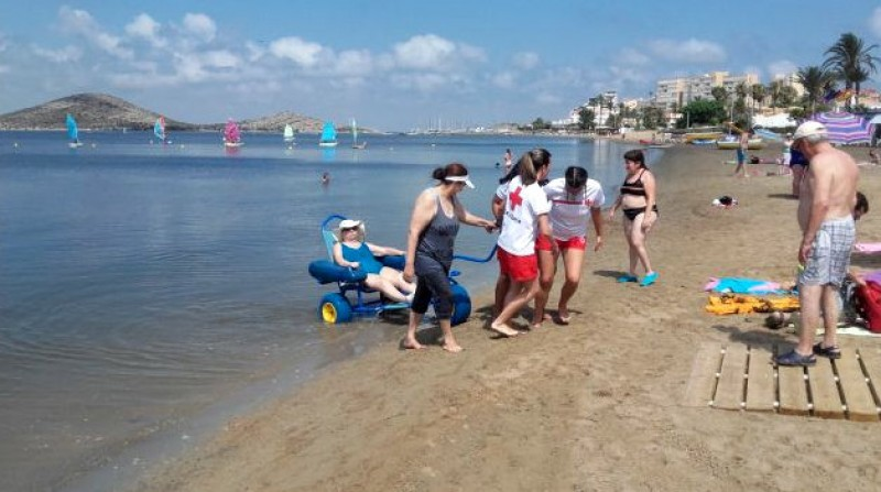 <span style='color:#780948'>ARCHIVED</span> - 40 per cent rise in the number of accessible beaches in the Costa Cálida say Famdif