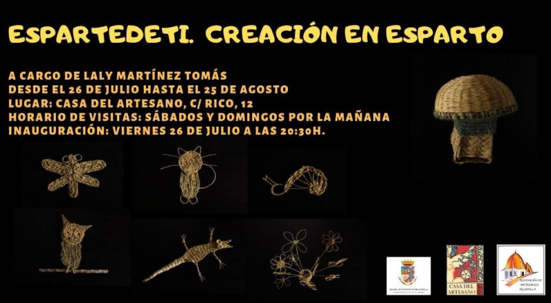 Until 25th August, esparto grass weaving exhibition in Jumilla