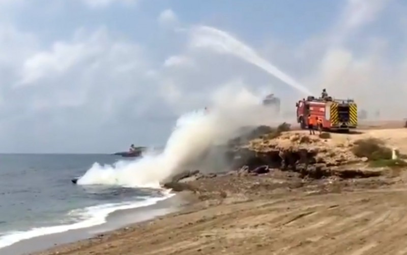 <span style='color:#780948'>ARCHIVED</span> - Two boats catch fire off the beaches of Águilas