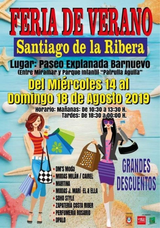 <span style='color:#780948'>ARCHIVED</span> - 14th to 18th August summer shopping event in Santiago de la Ribera
