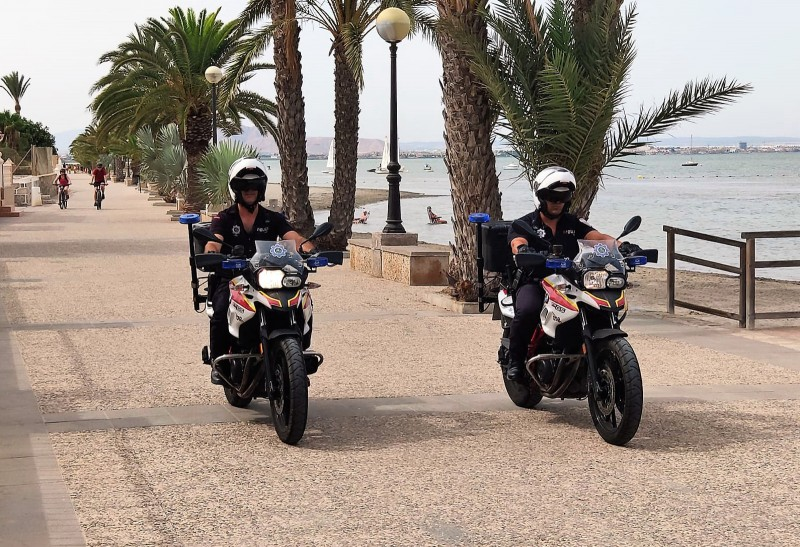 Motorised patrols on the Cartagena coastline this year