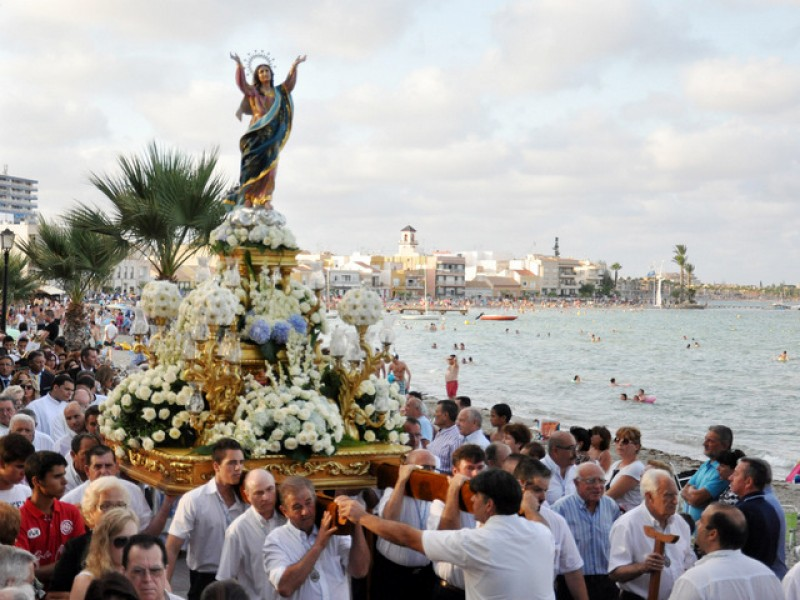 <span style='color:#780948'>ARCHIVED</span> - 15th August Festivity of the Virgen del Asunción in Los Alcázares