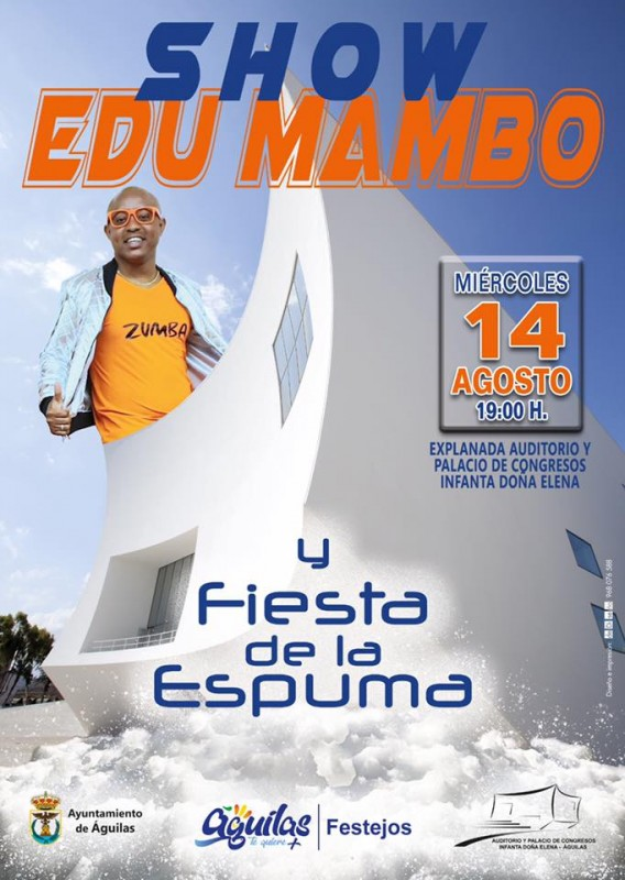 <span style='color:#780948'>ARCHIVED</span> - 14th August free foam party and dance fun with Edu Mambo