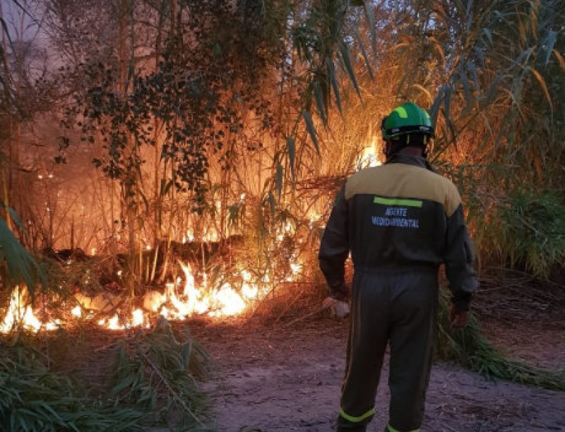 <span style='color:#780948'>ARCHIVED</span> - 12 hours to put out the flames as another fire breaks out on the riverbank in Cieza