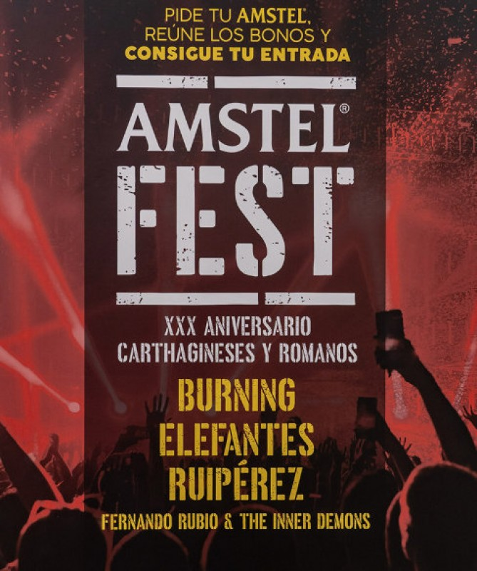 26th September, Amstelfest free rock music in Cartagena for Carthaginians and Romans fiestas