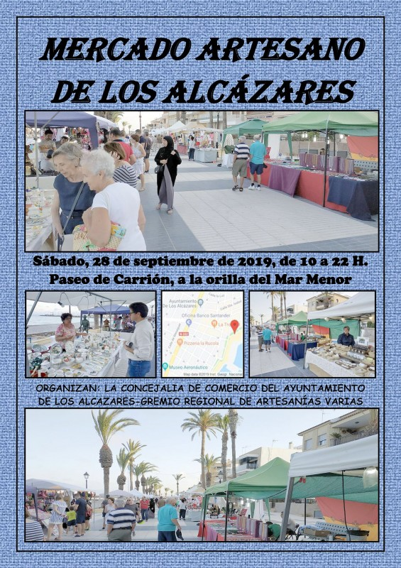<span style='color:#780948'>ARCHIVED</span> - Saturday 28th September Artisan Market in Los Alcázares