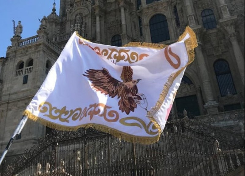 <span style='color:#780948'>ARCHIVED</span> - Lorca Semana Santa brotherhood finds 133-year-old embroidered flag