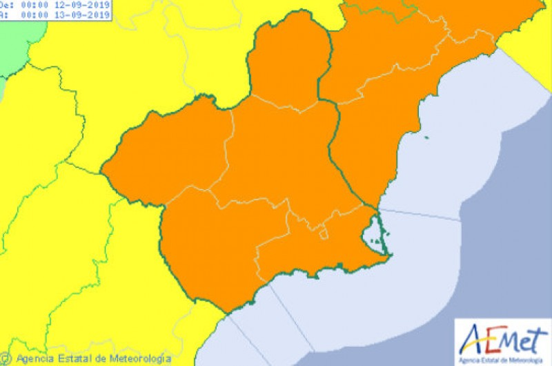 <span style='color:#780948'>ARCHIVED</span> - Murcia authorities braced for flooding as orange alert for gota fría storms is reinforced