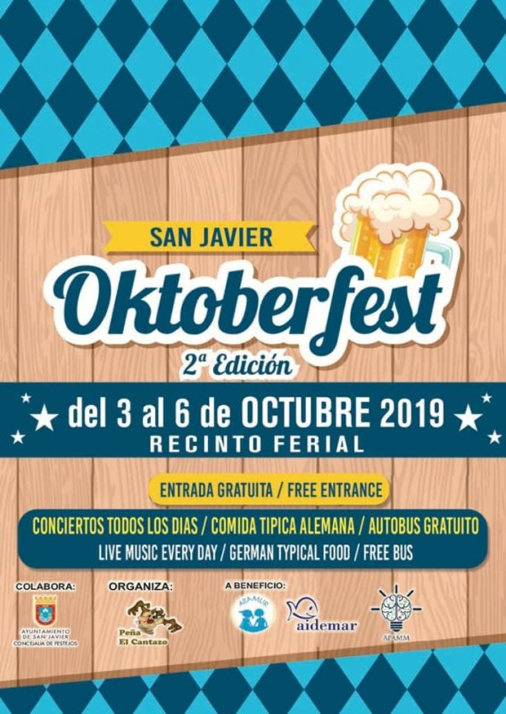 <span style='color:#780948'>ARCHIVED</span> - 3rd to 6th October: Oktoberfest in San Javier