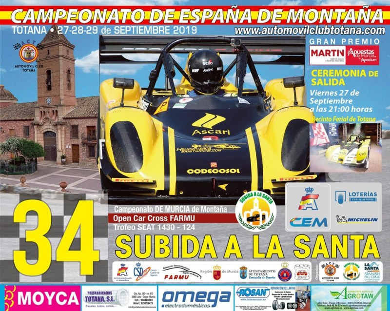 <span style='color:#780948'>ARCHIVED</span> - 27th to 29th September Subida a la Santa road rally racing in Totana