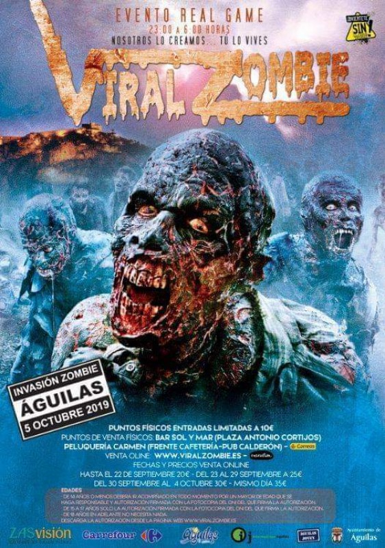 <span style='color:#780948'>ARCHIVED</span> - 5th October Viral Zombie survival night in Águilas