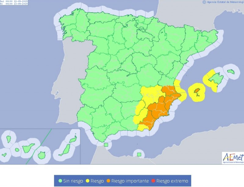 <span style='color:#780948'>ARCHIVED</span> - Emergency services across Murcia braced for the arrival of the gota fría storm