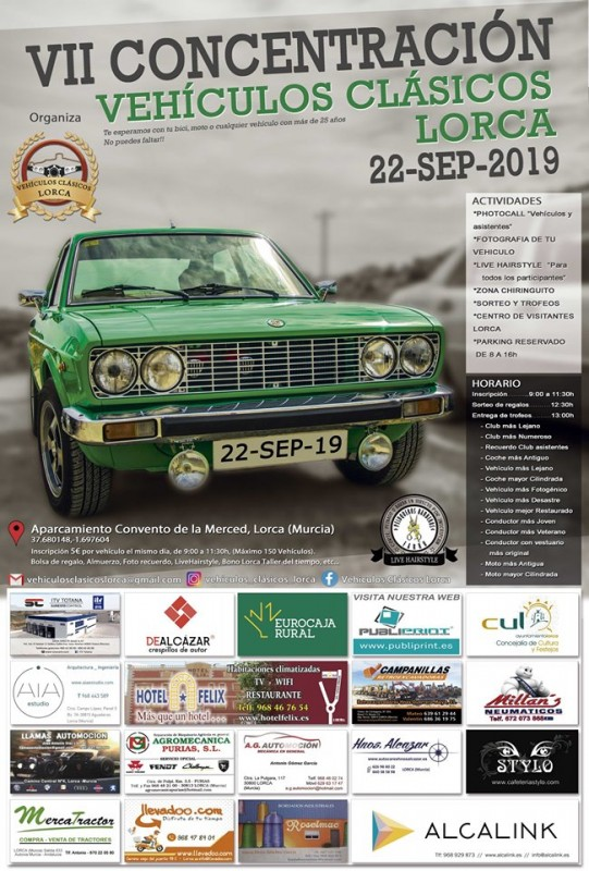 <span style='color:#780948'>ARCHIVED</span> - 22nd September Lorca Classic cars gathering