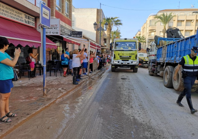 <span style='color:#780948'>ARCHIVED</span> - Military emergencies unit begins withdrawal from Los Alcázares after flooding