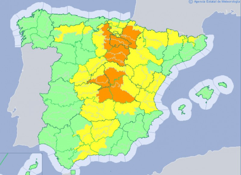 <span style='color:#780948'>ARCHIVED</span> - Rain alerts in central Spain this weekend but only showers in Murcia