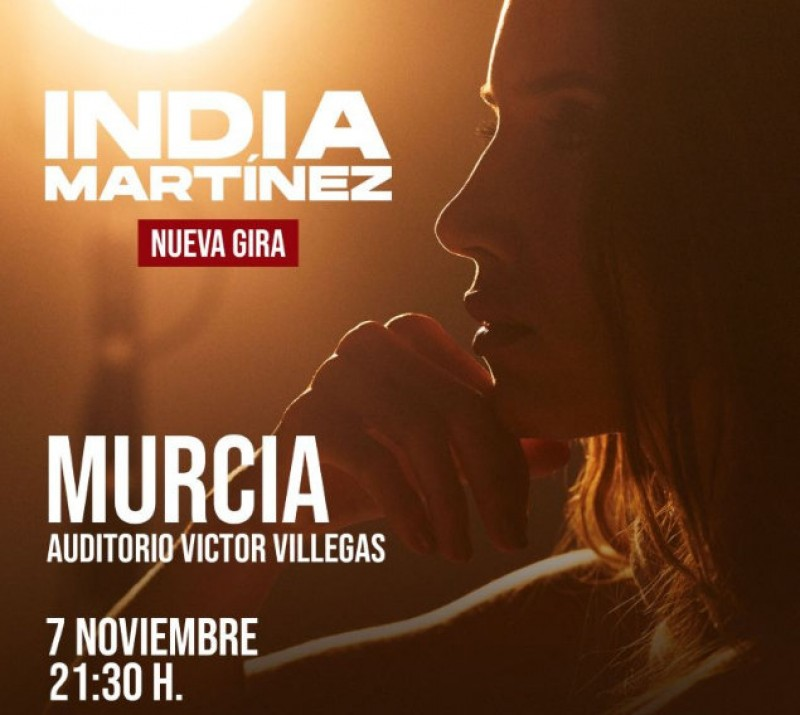 10th December, India Martínez live in concert at the Auditorio Víctor Villegas in Murcia