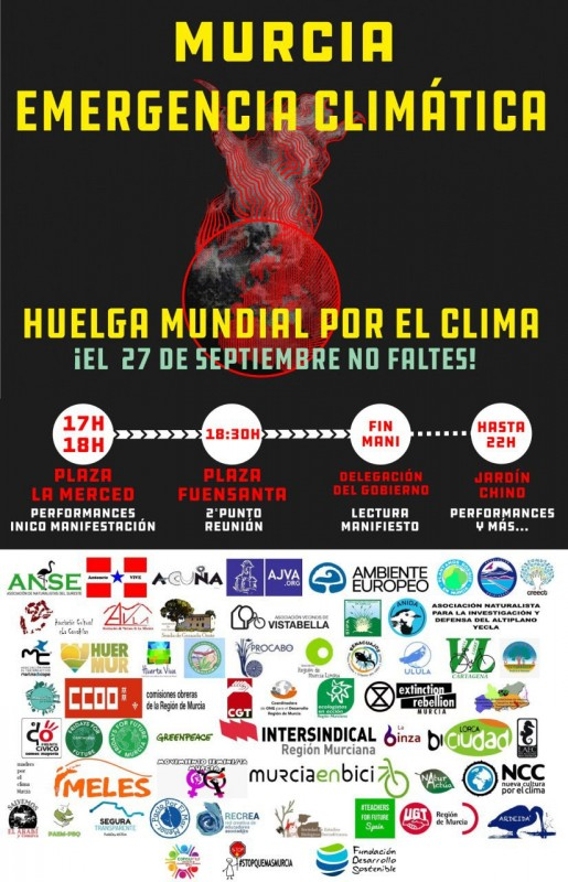 <span style='color:#780948'>ARCHIVED</span> - Climate emergency march and demonstration in Murcia on 27th September