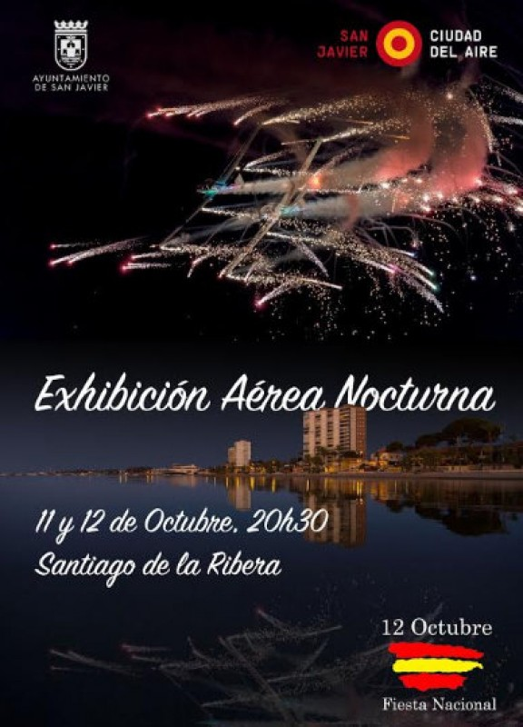 <span style='color:#780948'>ARCHIVED</span> - 11th and 12th October, evening air display and fireworks in San Javier