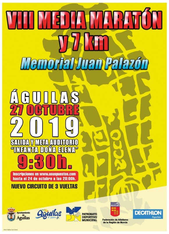 Sunday 27th October: VIII Águilas Half Marathon and 7km race