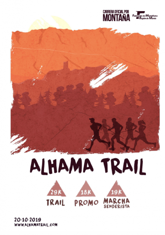 <span style='color:#780948'>ARCHIVED</span> - Sunday 20th October 2019 Alhama Trail: 19km walking route, 17 and 27km running races