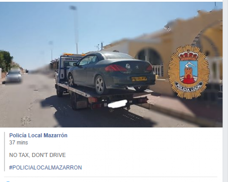 <span style='color:#780948'>ARCHIVED</span> - Mazarrón police clamp down on illegal foreign vehicles