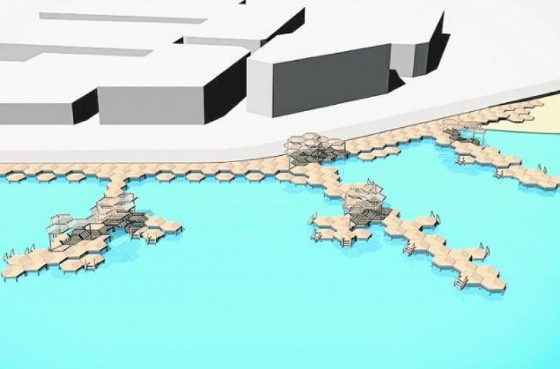 <span style='color:#780948'>ARCHIVED</span> - Bathing jetties could replace the sand at Playa de Carrión in Los Alcázares