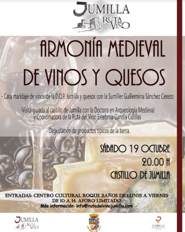 19th October, cheese and wine tasting at the castle of Jumilla