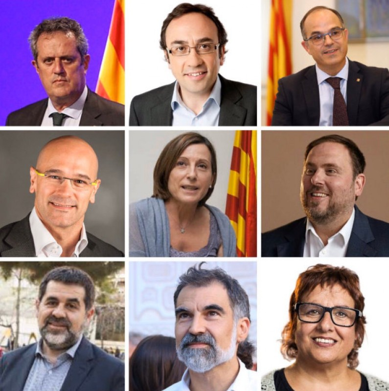 <span style='color:#780948'>ARCHIVED</span> - Catalan separatist leaders jailed for between 9 and 13 years