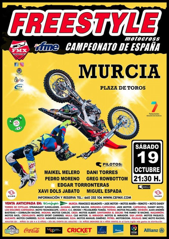 <span style='color:#780948'>ARCHIVED</span> - Saturday 19th October Murcia Freestyle