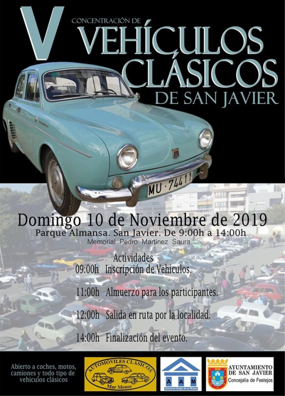 <span style='color:#780948'>ARCHIVED</span> - Sunday 10th November classic cars rally in San Javier
