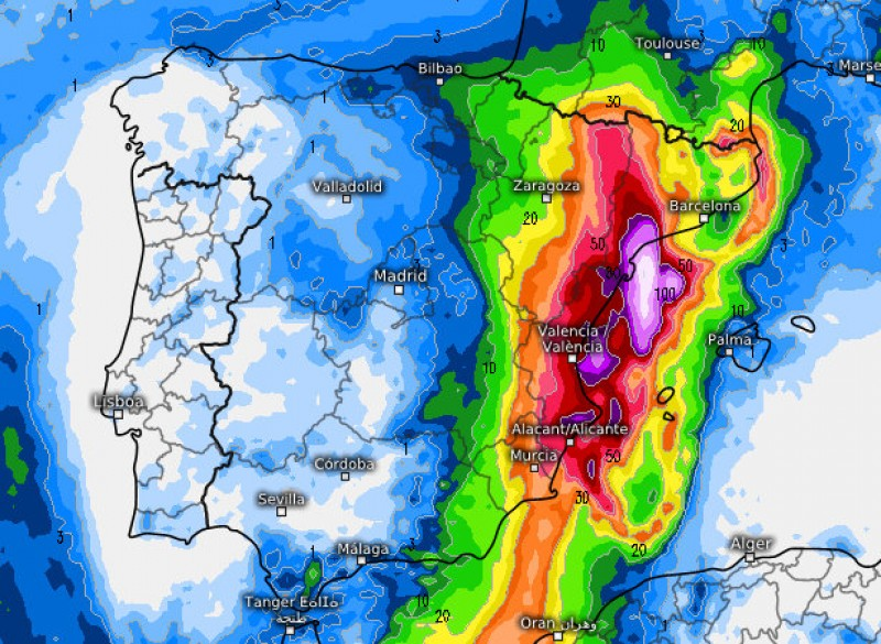 <span style='color:#780948'>ARCHIVED</span> - Aemet update weather forecast as another gota fría storm approaches Murcia