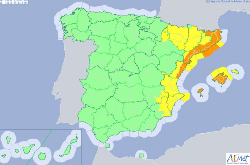 <span style='color:#780948'>ARCHIVED</span> - Latest on Gota Fría storm alert as Aemet postpone yellow alert until Tuesday