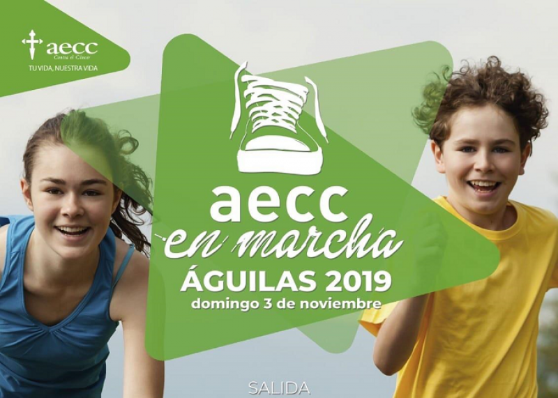 Sunday 3rd November Águilas solidarity walk for the Spanish Cancer Association AECC