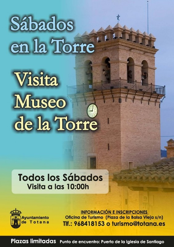 <span style='color:#780948'>ARCHIVED</span> - Every Saturday: free guided visits of Totana church tower and museum