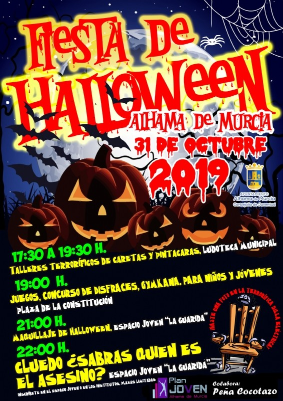 <span style='color:#780948'>ARCHIVED</span> - Thursday 31st October Halloween in Alhama de Murcia